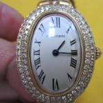 カルティエ 金無垢時計を買取させていただきました。